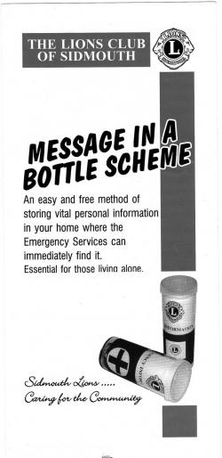 Message in a Bottle scheme