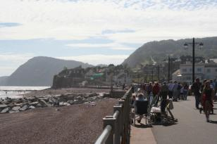 Enjoying the views on Sidmouth sea-front
