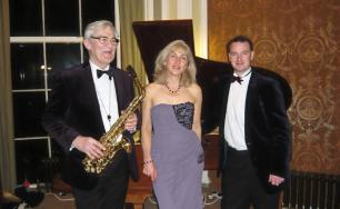 Music Deco Trio at the Sidholme Hotel - from left, Chris Gradwell, Kate Walker and Andrew Daldorph