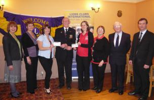 Presentation of cheques to representatives of the British Heart Foundation and the Devon Air Ambulance Appeal